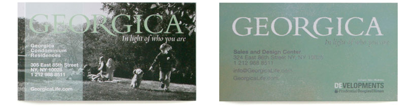 Georgica Business Cards