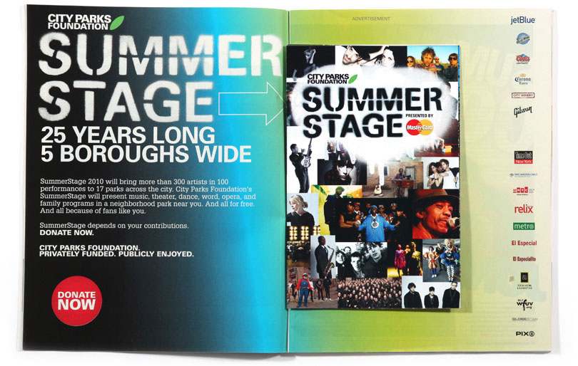 Summerstage TimeOut New York Advertising